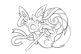 pokemon sylveon coloring pages getcoloringpages com