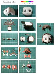 Paper Craft Steps - reimu touhou papercraft chibi 盞 how to make a paper model