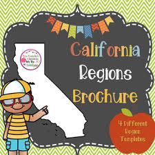 ca regions brochure project 4th grade ca history by mrs