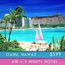 oahu hawaii 3 nights vacation vegasio tourism