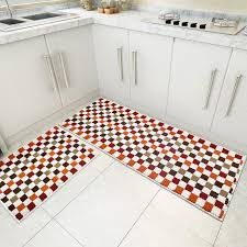 Rubber Rug Backing Blue Red Green 2 Piece Sets Rubber Backing Non Slip Kitchen Rug