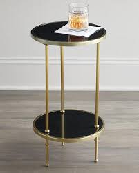 Brass Side Table Tiered Black And Brass Side Table