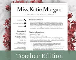 teachers resume template elementary resume template for word pages 1 3