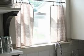 Kitchen Window Curtains Ikea by Cool Half Kitchen Cafe Curtain Design With Grey Fabric White