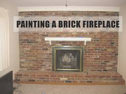 fireplace awesome painting fireplace brick decorating ideas
