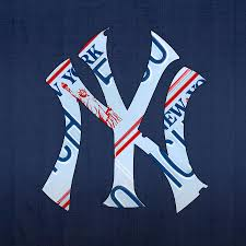 new york yankees baseball team vintage logo recycled ny license
