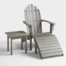 Grey Adirondack Chairs Gray Adirondack Side Table World Market