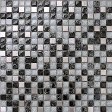 metal tiles for kitchen backsplash black and white mosaic tile crackle glass stainless steel