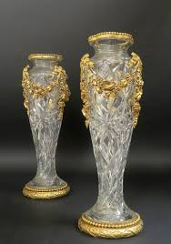 Cut Crystal Vases Antique Monumental 19th C Bronze U0026 Baccarat Crystal Vases Antique Iv