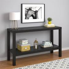48 inch console table decmode industrial 32 x 48 inch iron and wood three tier console
