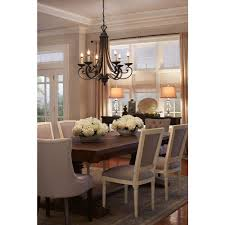 Home Depot Light Fixtures Dining Room by Designers Fountain Monte Carlo 6 Light Hanging Natural Iron