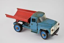 zil 130 vintage ussr russian large tin toy dump truck dutch salvage