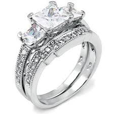 nice engagement rings images Sterling silver cubic zirconia cz wedding engagement jpg