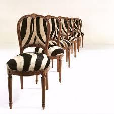 louis xvi maison jansen zebra chairs set of 6 chairish