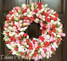 Tulip Wreath 1008 Best Tulip Wreaths Images On Pinterest Deco Mesh Spring