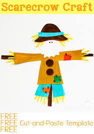 cut paste scarecrow craft fall