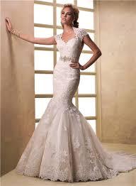 cap sleeve keyhole open back lace wedding dress with crystal sash