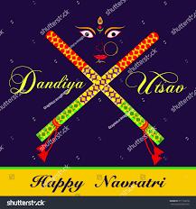 Decorate Dandiya Sticks Home by Illustration Decorated Dandiya Indian Festival Navratri Stock