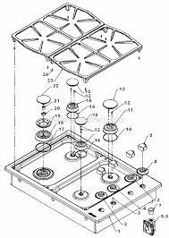 Ge Profile Cooktop Parts List Kitchen Top Dacor Pgm304 Parts List And Diagram Ereplacementparts