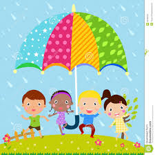 kids and umbrella royalty free stock images image 35469029