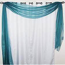 Sheer Scarf Valance Window Treatments Amazon Com Luxurydiscounts Beautiful Elegant Solid Turquoise