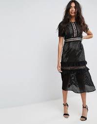 midi dress boohoo midi dress meghan markle s lace self portrait dress at