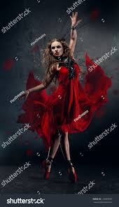 flamenco dancing woman red dress stock photo 124063597 shutterstock