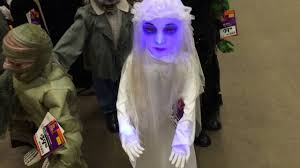 home depot halloween 2016 3ft led ghost bride youtube