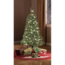 holiday time pre lit 4 u0027 cashmere artificial christmas tree clear