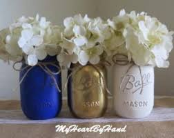 rose gold white light gray mason jar centerpieces rustic home