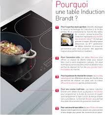 cuisiner avec l induction brandt ti14b table de cuisson induction 3 zones 5900w l56xp49cm