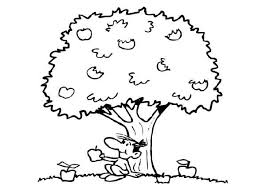 apple tree coloring pages boy sitting under an apple tree colouring page happy colouring
