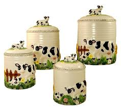canisters kitchen decor cows for the kitchen kitchen canisters 4pc canisters set cow