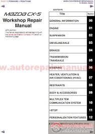 mazda cx 5 2012 workshop repair manual auto repair manual forum