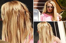 does kyle wear hair extensions britney spears reveals dodgy hair extensions as she steps out in la