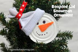 recycled ornament craft snowman inspired by family
