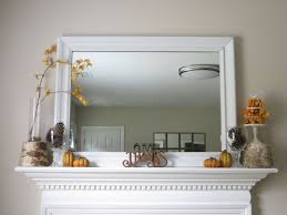 diy fall mantel with dollar tree items and upcycled pieces