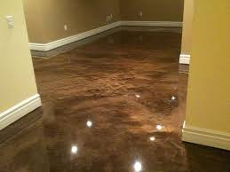 How To Stain A Concrete Basement Floor by Concrete Basement Floor Paint Basements Ideas