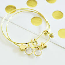 gold monogram gold monogram bracelet with gold dot insert celebrate party chaos