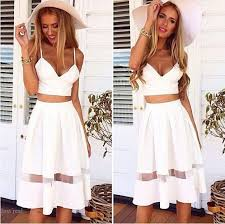 women white spaghetti strap two piece set dress fashion two piece