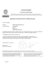 bureau veritas pro bureau veritas agreement of diving team for in water surveys
