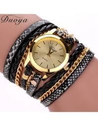 luxury leather bracelet images Hot sale top luxury gold watch fashion long leather bracelet watch jpg