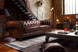 canapé cuir style anglais un canapé chesterfield pour un style affirmé