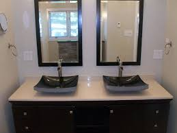 white wall paint mirrors with black wooden frame washbasin
