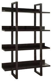 bookcase cappuccino open concept display etagere contemporary