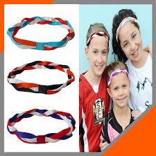 non slip headbands softball baseball sports braided headbands sweat silicone non slip