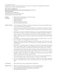 Sample Research Resume by Phd Cv Postdoctoral Research