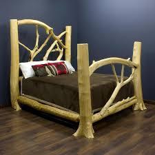 18 best log bed frame ideas images on pinterest log bed frame