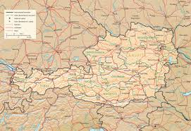 Map Austria Physiography Of Austria