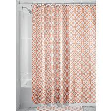 Coral And Grey Shower Curtain Coral Shower Curtains Amazon Com